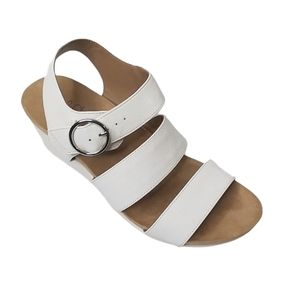 Life Stride Muse Women's White Wedge Flex Sandals